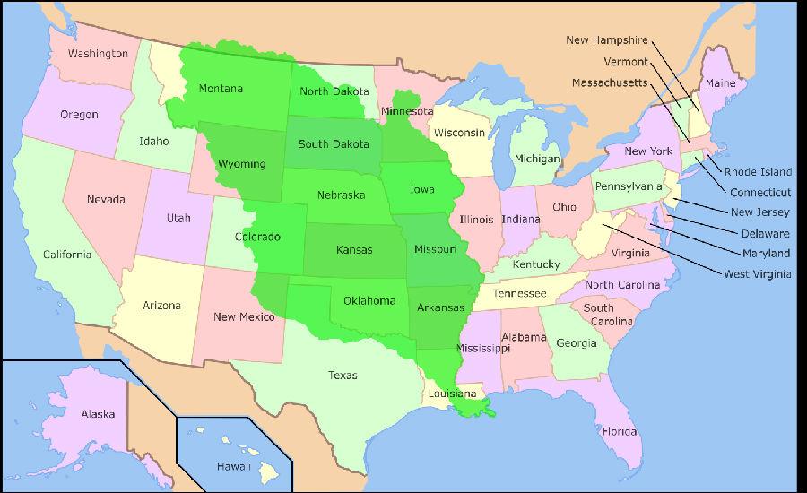 《路易斯安那购地条约》签定——美国国土面积加倍
