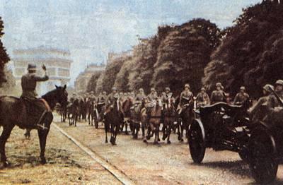 德军举行巴黎入城仪式
