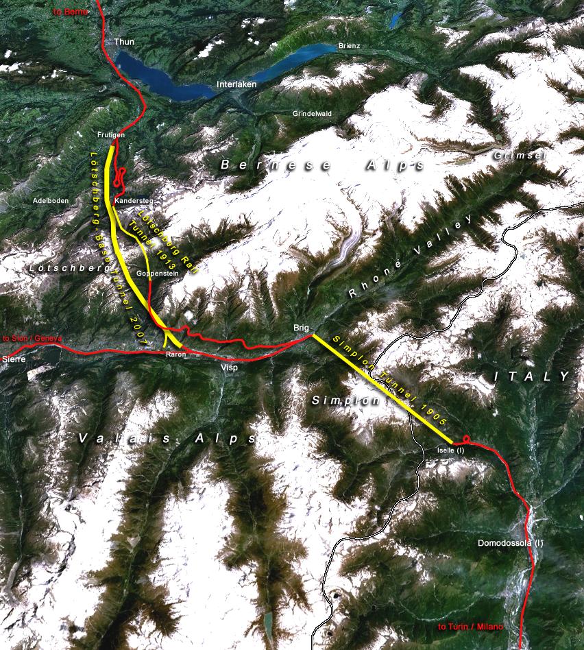 世界最长的陆地铁路隧道——瑞士勒奇山基线隧道开通