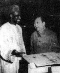 毛泽东会见特拉奥雷