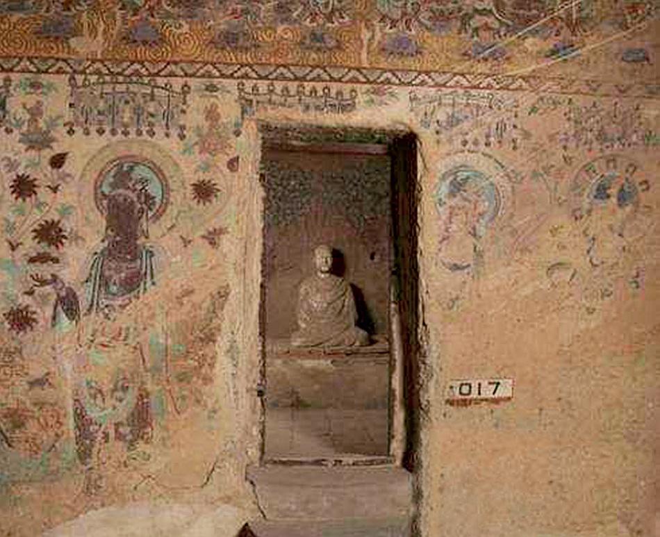 中国甘肃敦煌莫高窟藏经洞被发现