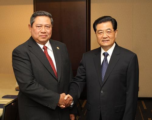 胡锦涛会见印尼总统苏西洛