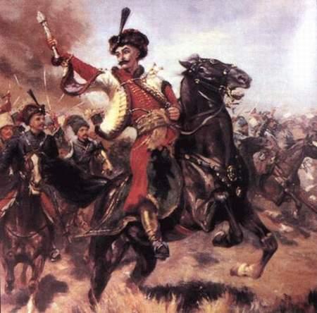 哥萨克战争中决定性的别列斯捷奇科战役爆发