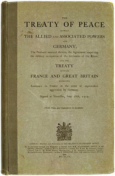 德国在凡尔赛条约上签字
