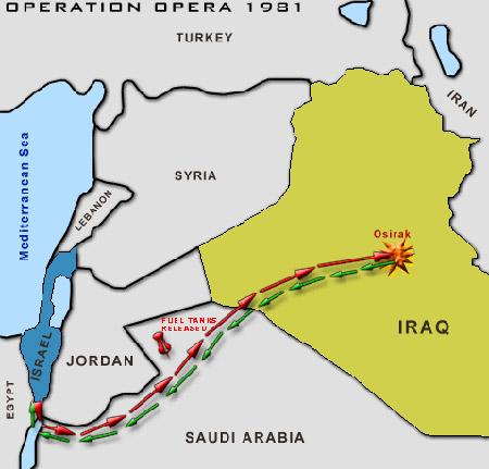 以色列空军发动巴比伦行动——出动14架战斗机摧毁伊拉克的核反应堆