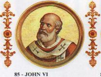 教皇约翰六世逝世