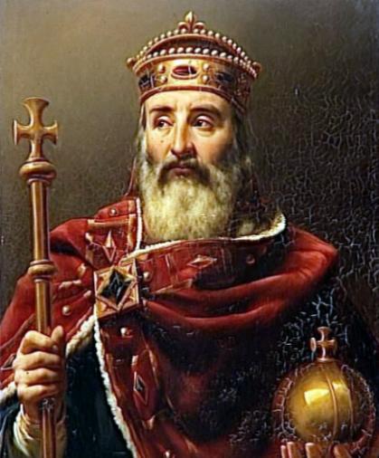 神圣罗马帝国皇帝查理曼大帝逝世