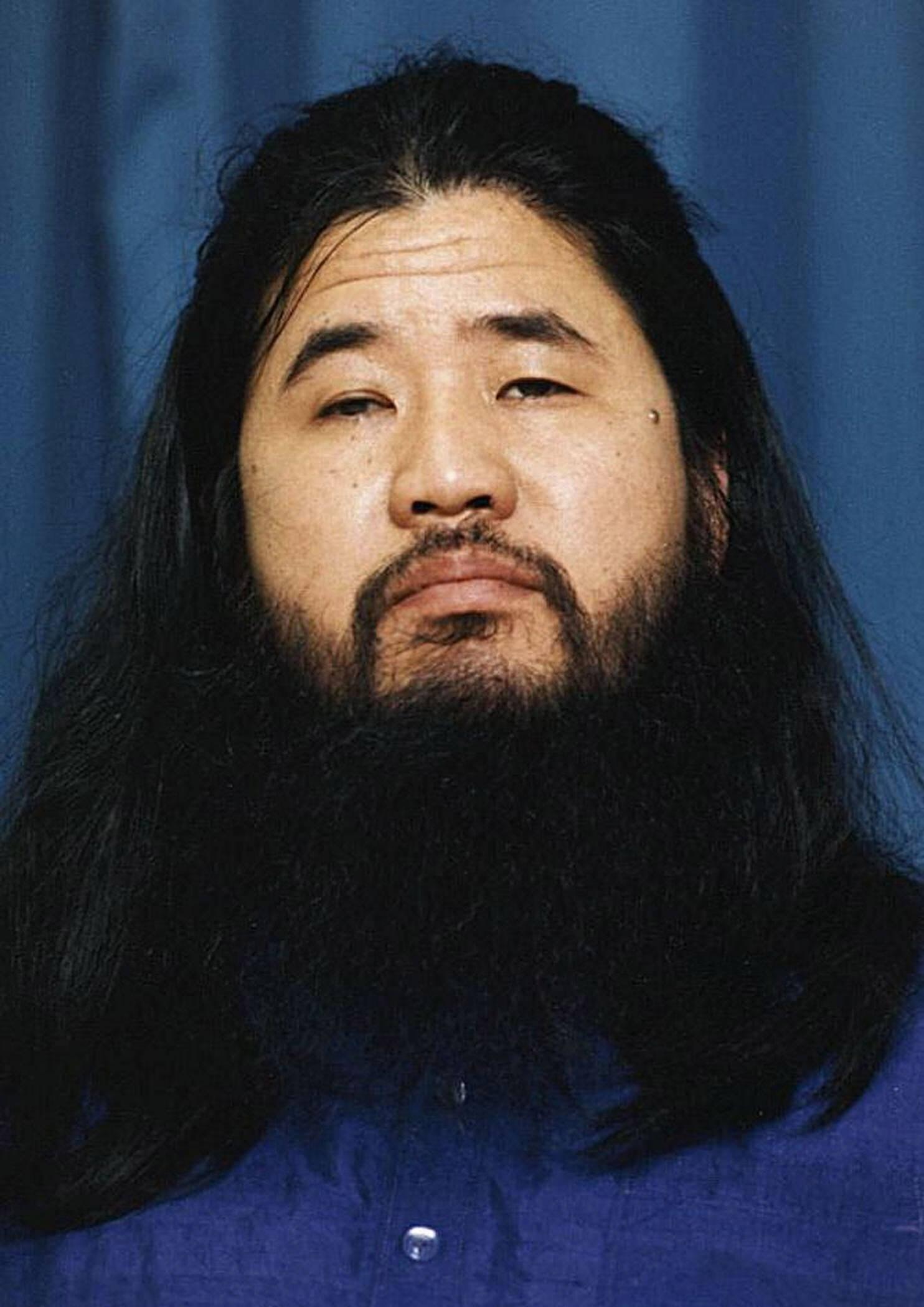 日本奥姆真理教教主麻原彰幌接受审讯 邪教