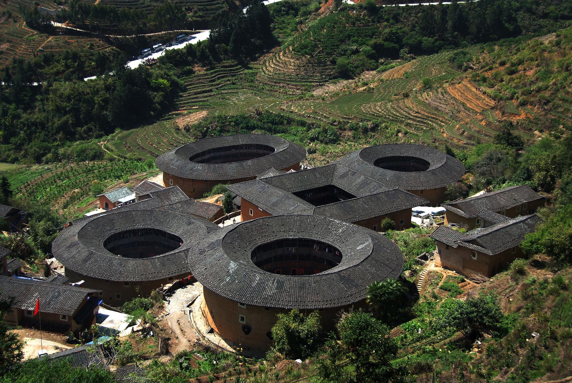 """中国""""福建土楼""""被正式列入《世界遗产名录》 文化 民俗 建筑"""